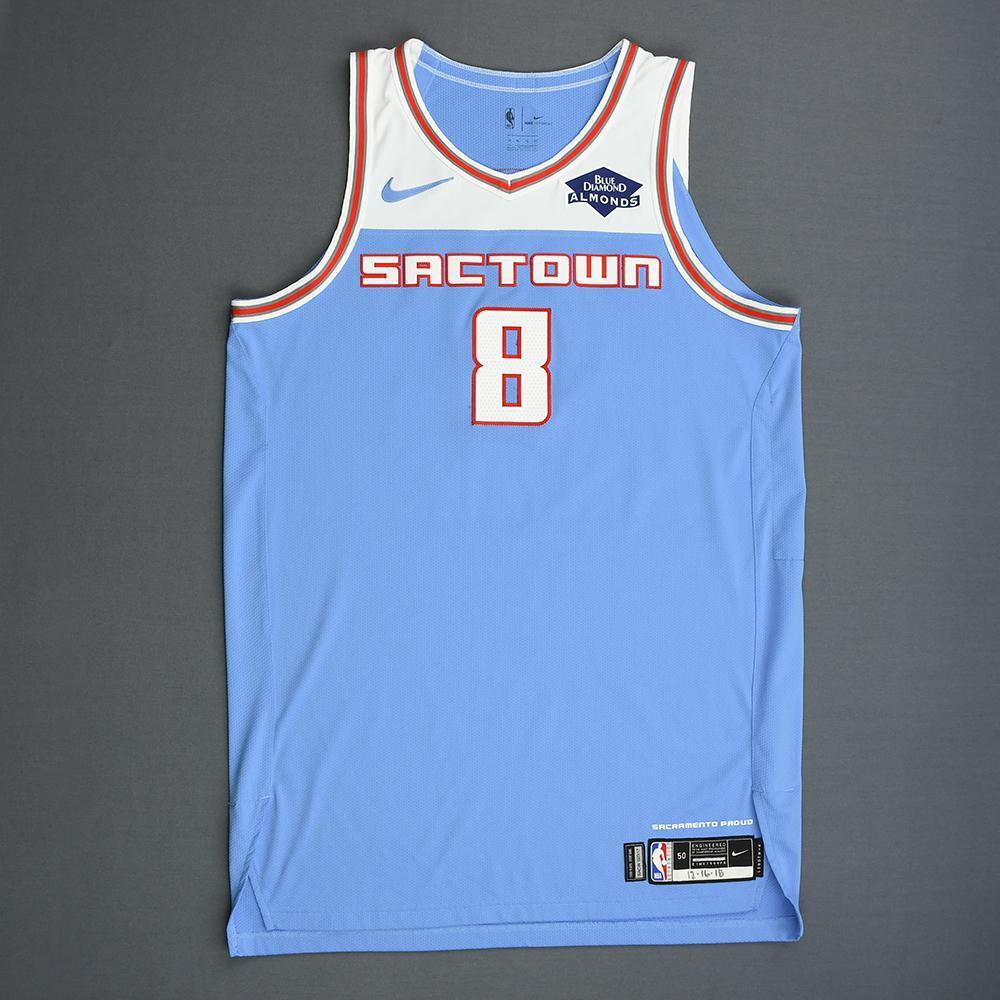 buy popular 4e540 689d9 Bogdan Bogdanovic - Sacramento Kings - Game-Worn City ...