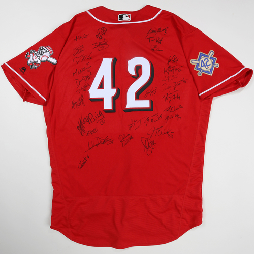 Photo of 2019 Jackie Robinson Day Jersey - Cincinnati Reds Team Autographed Jersey