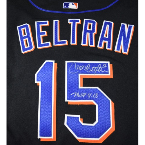 Photo of Rays Baseball Foundation Auction: Carlos Beltran Autographed New York Mets Jersey - Size 46