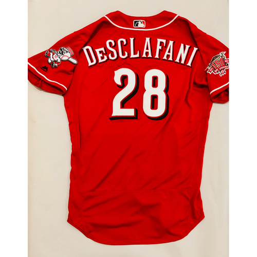 Photo of 2019 Mexico Series Game Used Jersey - Anthony DeSclafani Size 46 (Cincinnati Reds)