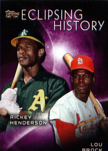Photo of 2015 Topps Eclipsing History #EH1 Lou Brock/Rickey Henderson