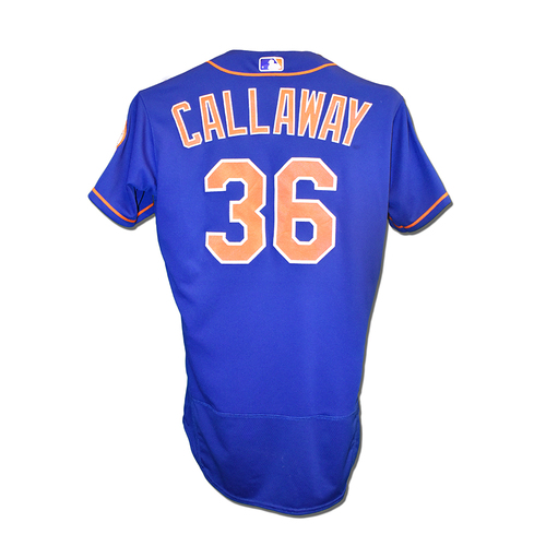 Photo of Mickey Callaway #36 - Team Issued Blue Alt. Home Jersey -  2019 Spring Training