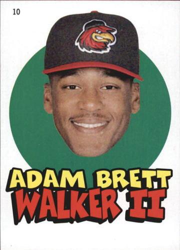 Photo of 2016 Topps Heritage Minors '67 Topps Stickers #10 Adam Brett Walker II