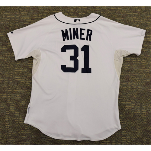 Photo of Zach Miner Game Worn Detroit Tigers #31 Home Jersey (NOT MLB AUTHENTICATED)