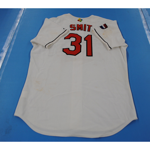 Photo of 2006 Inaugural World Baseball Classic: Alexander Smit Game-worn Team Netherlands Home Jersey