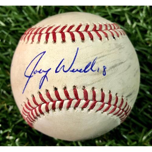 Photo of Rays Baseball Foundation: Game Used Autographed Baseball - Joey Wendle - September 25, 2018 v NYY
