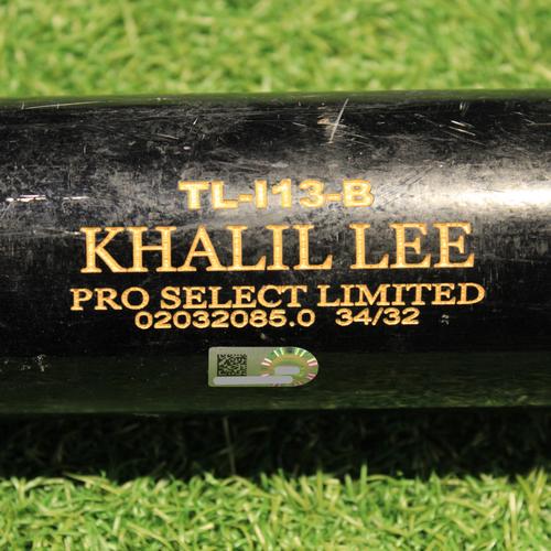 Photo of Team-Issued Bat: Khalil Lee #24