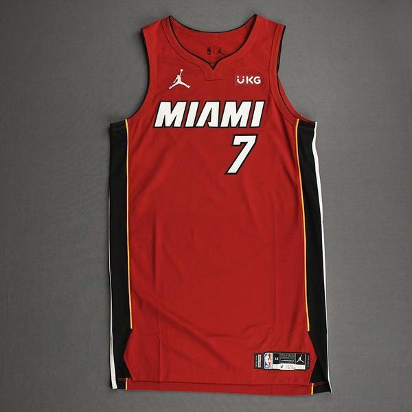 Image of Goran Dragic - Miami Heat - Game-Worn - Statement Edition Jersey - Christmas Day 2020 - 1st Half