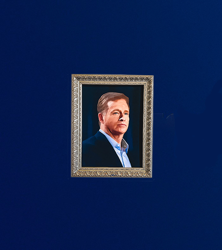 Photo of Commissioner Goodell Rocket Mortgage Rams Draft House Portrait
