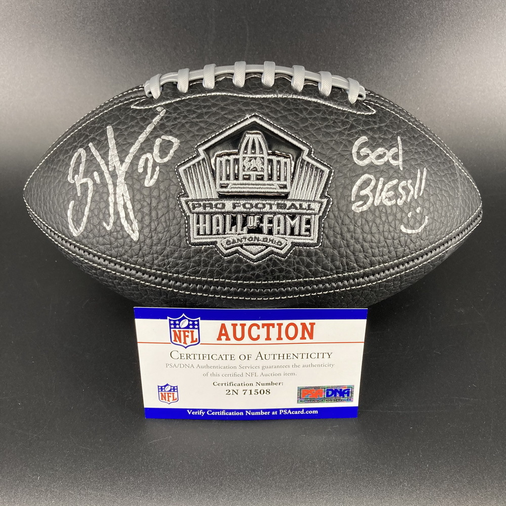 PCC - Eagles Brian Dawkins Signed NFL 100 Hall of Fame Composit Football