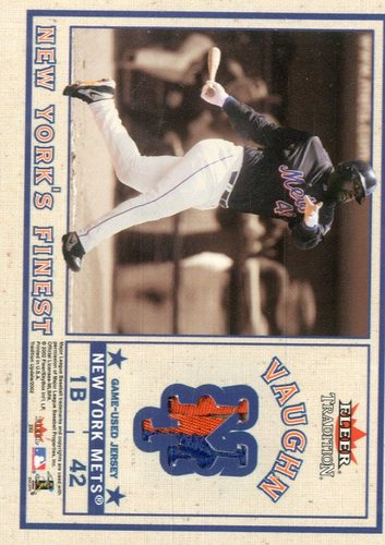 Photo of 2002 Fleer Tradition Update New York's Finest Dual Swatch #4 Mike Mussina Jsy/Mo Vaughn Jsy