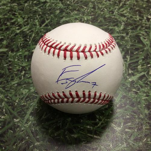 Eric Thames Autographed Baseball
