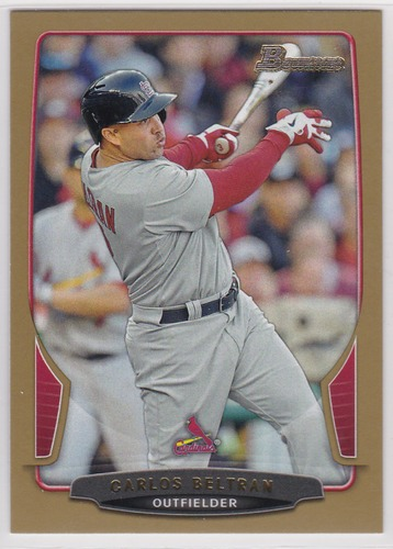 Photo of 2013 Bowman Gold #153 Carlos Beltran