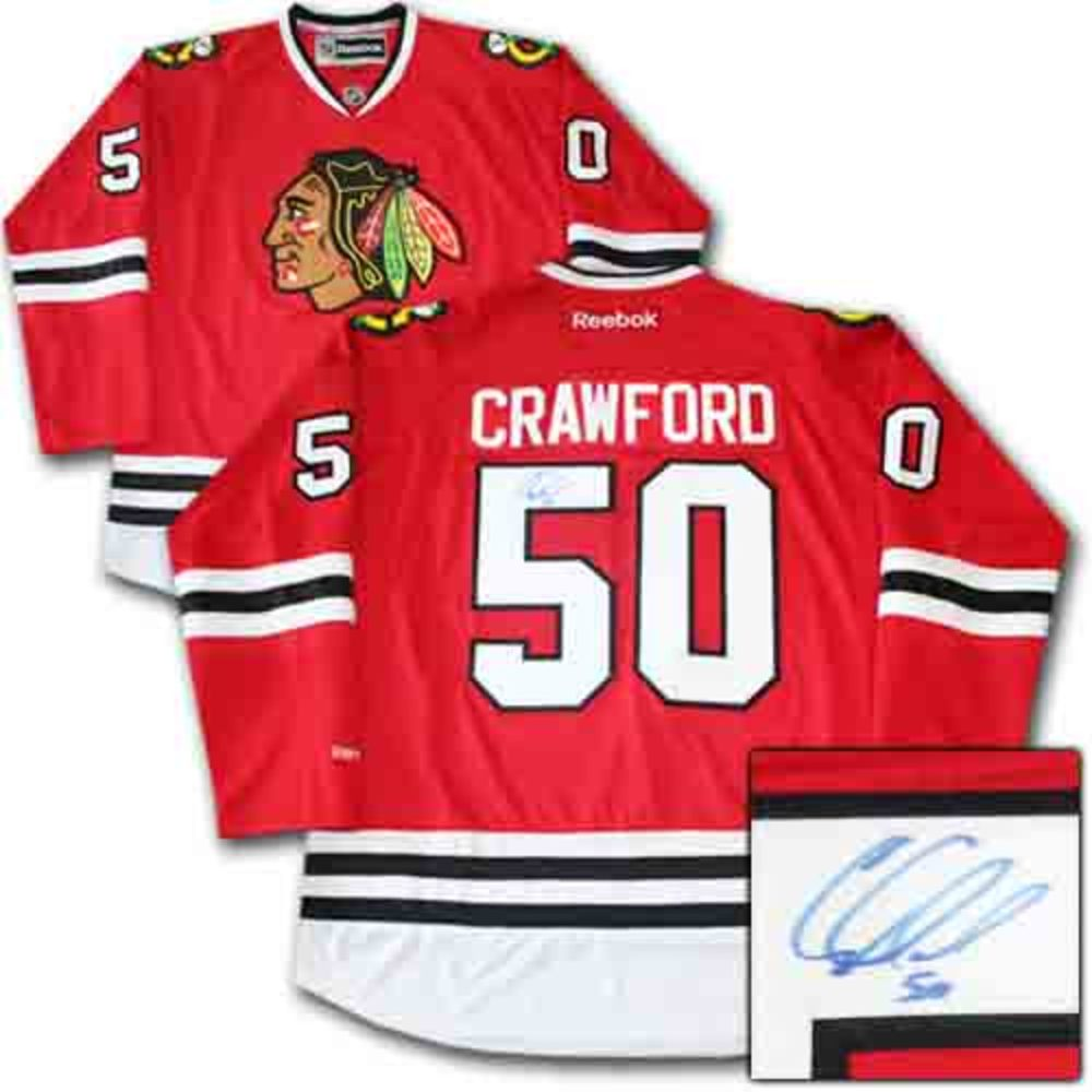Corey Crawford Autographed Chicago Blackhawks Jersey