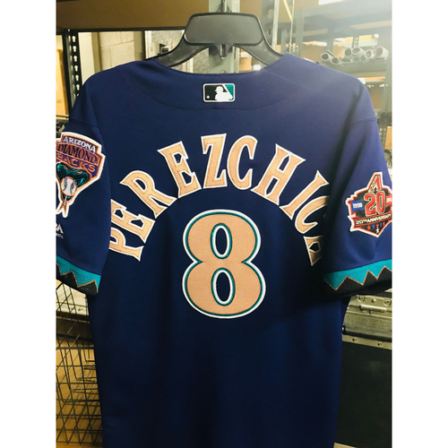 Photo of 2018 Game-Used Purple Throwback Jersey - Tony Perezchica