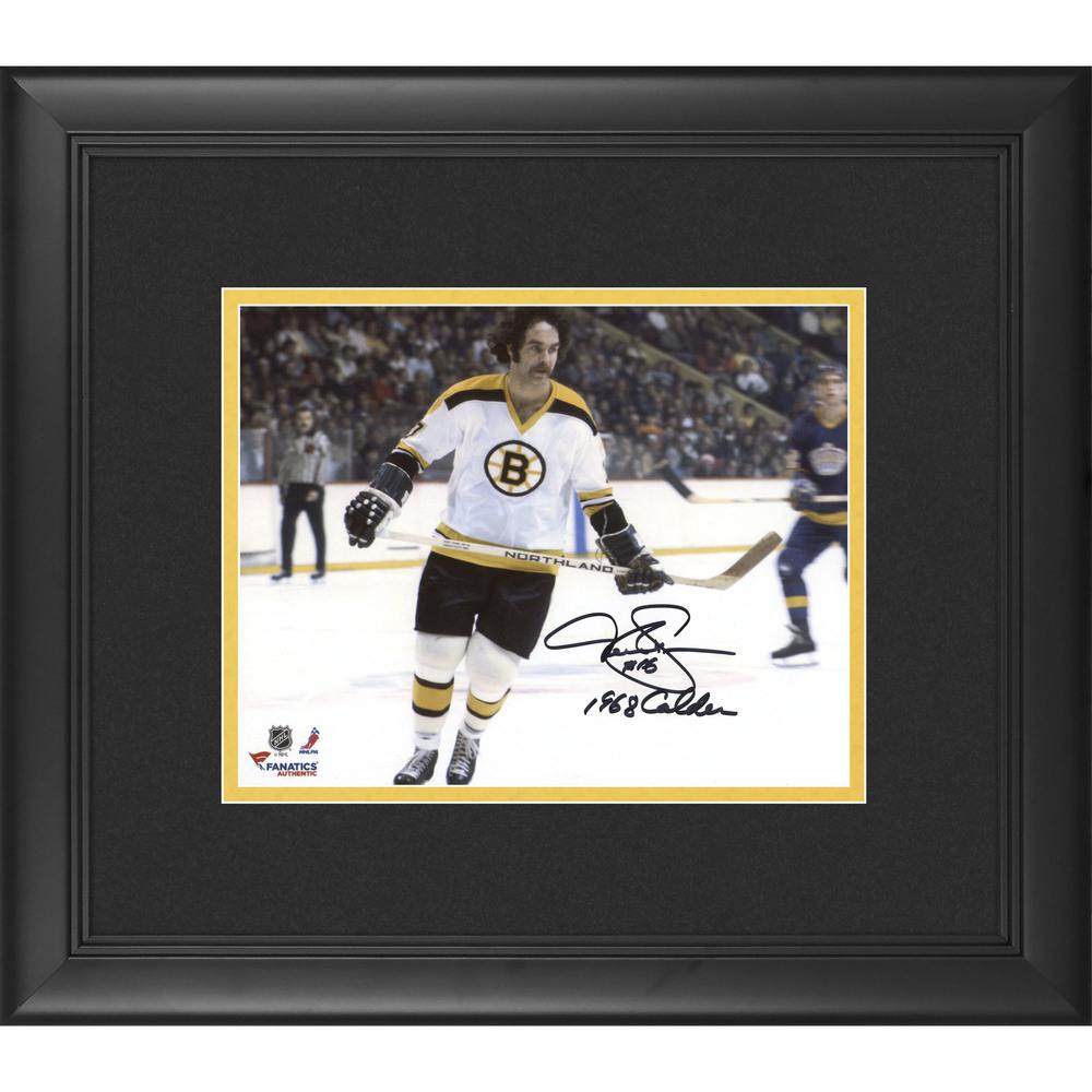 Derek Sanderson Boston Bruins Framed Autographed 8
