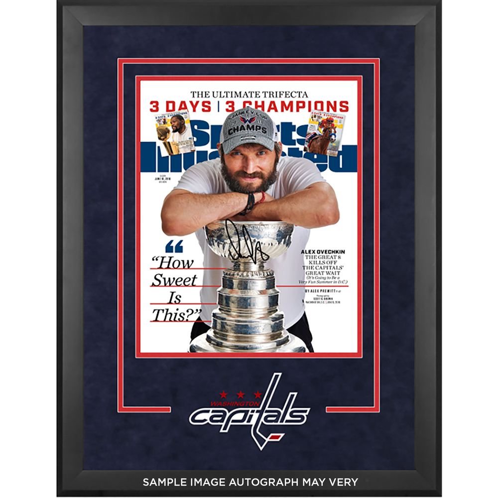 Alex Ovechkin Washington Capitals 2018 Stanley Cup Champs Deluxe Framed Autographed 16