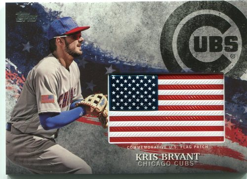 Photo of 2018 Topps Independence Day U.S. Flag Relics #IDMLKB Kris Bryant