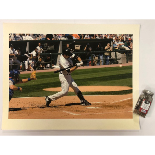 Photo of Paul Konerko Canvas Poster (not autographed) and Game-Used Dirt from Konerko's Last Game