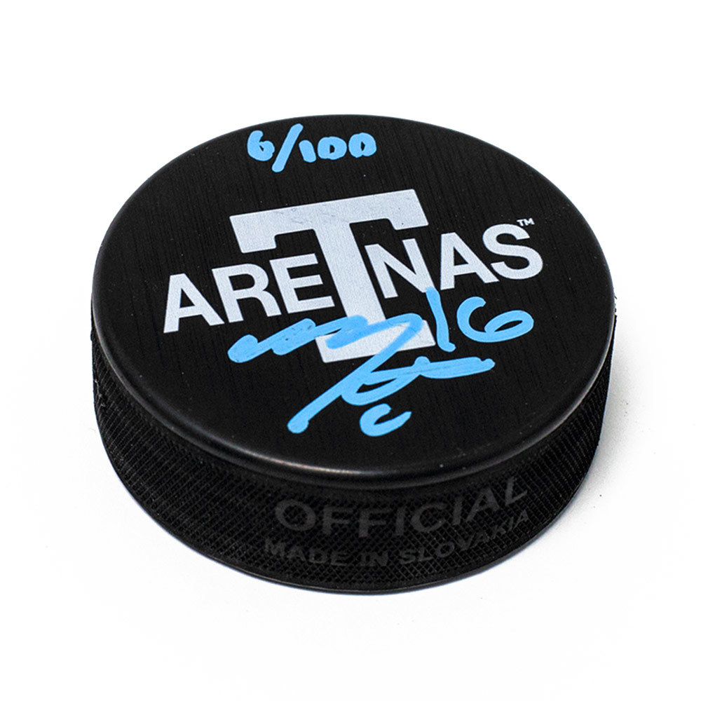 Mitch Marner Toronto Arenas Signed Maple Leafs Next Century Game Puck #/100