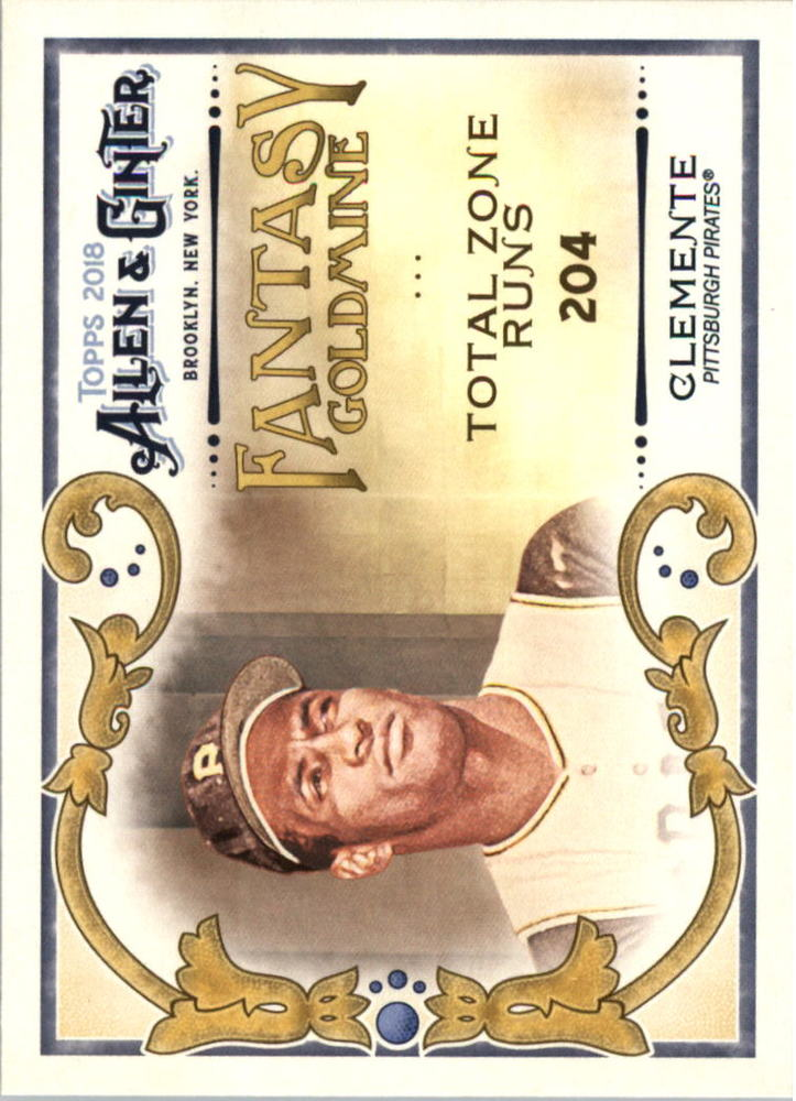 2018 Topps Allen and Ginter Fantasy Goldmine #FG11 Roberto Clemente