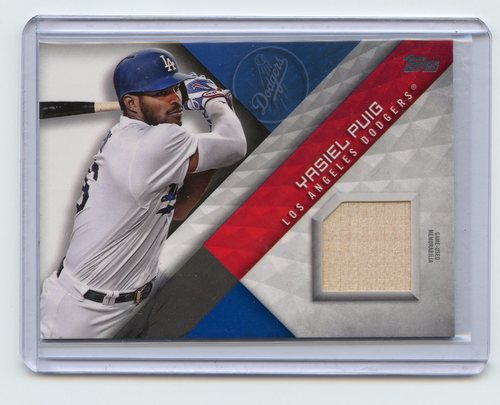 Photo of 2018 Topps Major League Materials #MLMYP Yasiel Puig