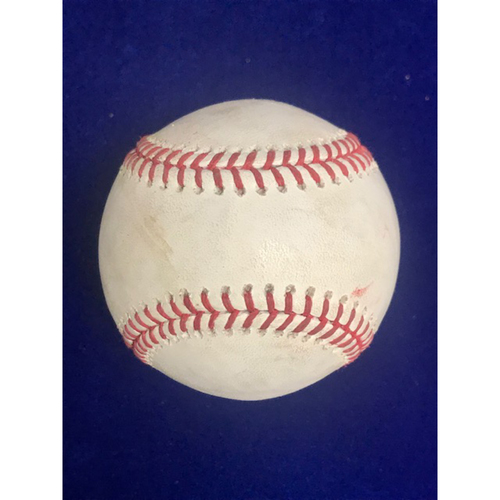 Photo of Game Used Baseball: Jose Altuve RBI Single August 25th 2018