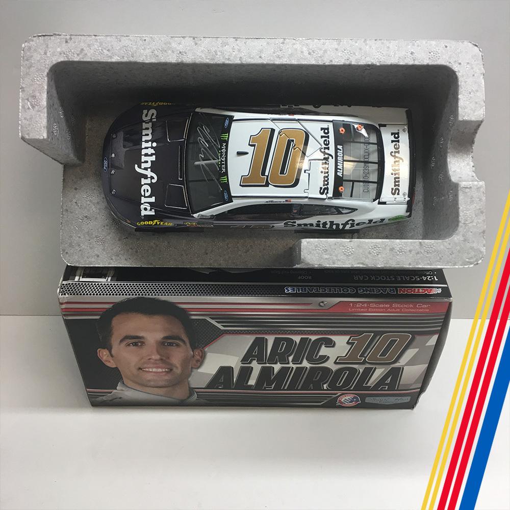 NASCAR's Aric Almirola autographed Smithfield diecast!