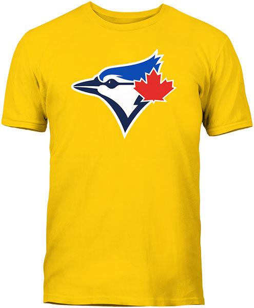 Toronto Blue Jays Secondary Logo Yellow T-Shirt by Bulletin