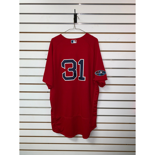 Photo of Drew Pomeranz Game Used September 28, 2018 Home Alternate Jersey