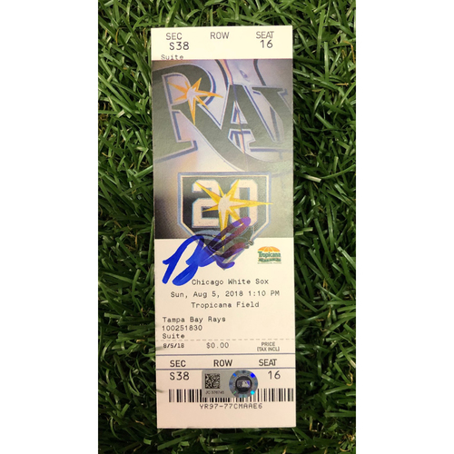 Photo of Autographed Game Ticket: Brandon Lowe MLB Debut - August 5, 2018 v CWS