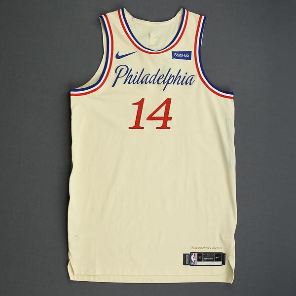 Image of Norvel Pelle - Philadelphia 76ers - Christmas Day' 19 - Game-Worn City Edition Jersey - Dressed, Did Not Play