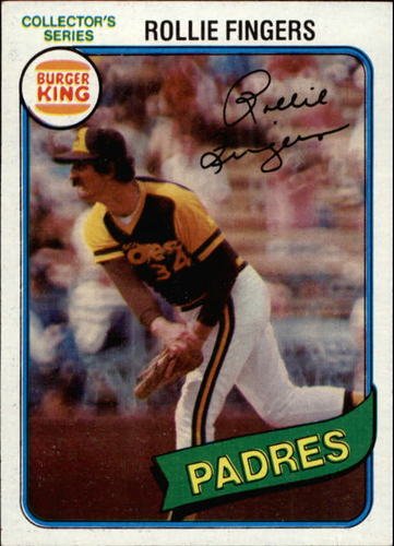 Photo of 1980 Burger King Pitch/Hit/Run #3 Rollie Fingers