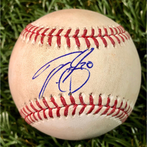 Photo of Rays Baseball Foundation: Game Used Autographed Baseball - Tyler Glasnow - September 28, 2018 v TOR