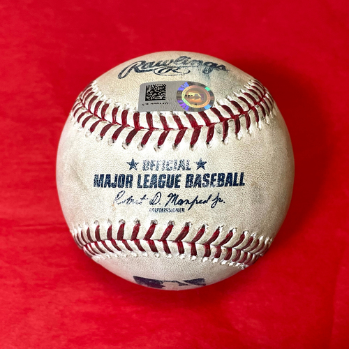 Photo of Game-Used Baseball - Ketel Marte Hit By Pitch vs. Alex Wood - Giants @ D-backs 8/5/2021