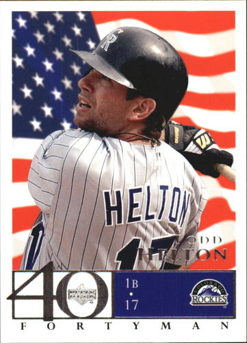 Photo of 2003 Upper Deck 40-Man Red White and Blue #744 Todd Helton