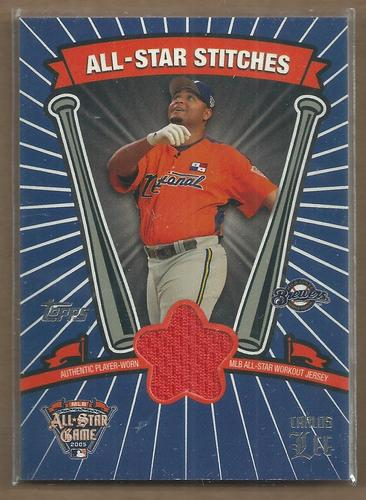 Photo of 2005 Topps Update All-Star Stitches #CL Carlos Lee E
