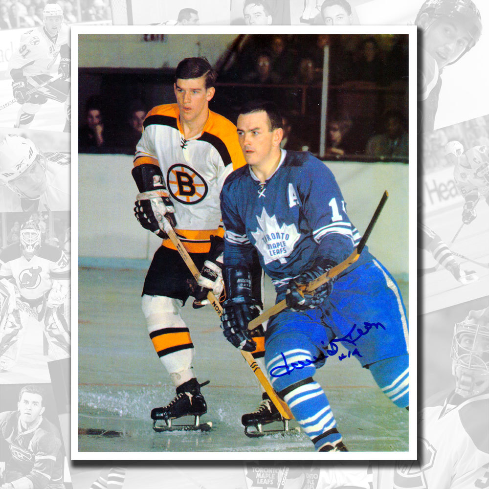 Dave Keon Toronto Maple Leafs vs. Bobby Orr Autographed 8x10