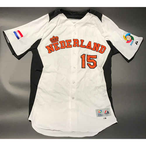 Photo of 2013 World Baseball Classic Jersey - Netherlands Jersey, Steve Janssen #15