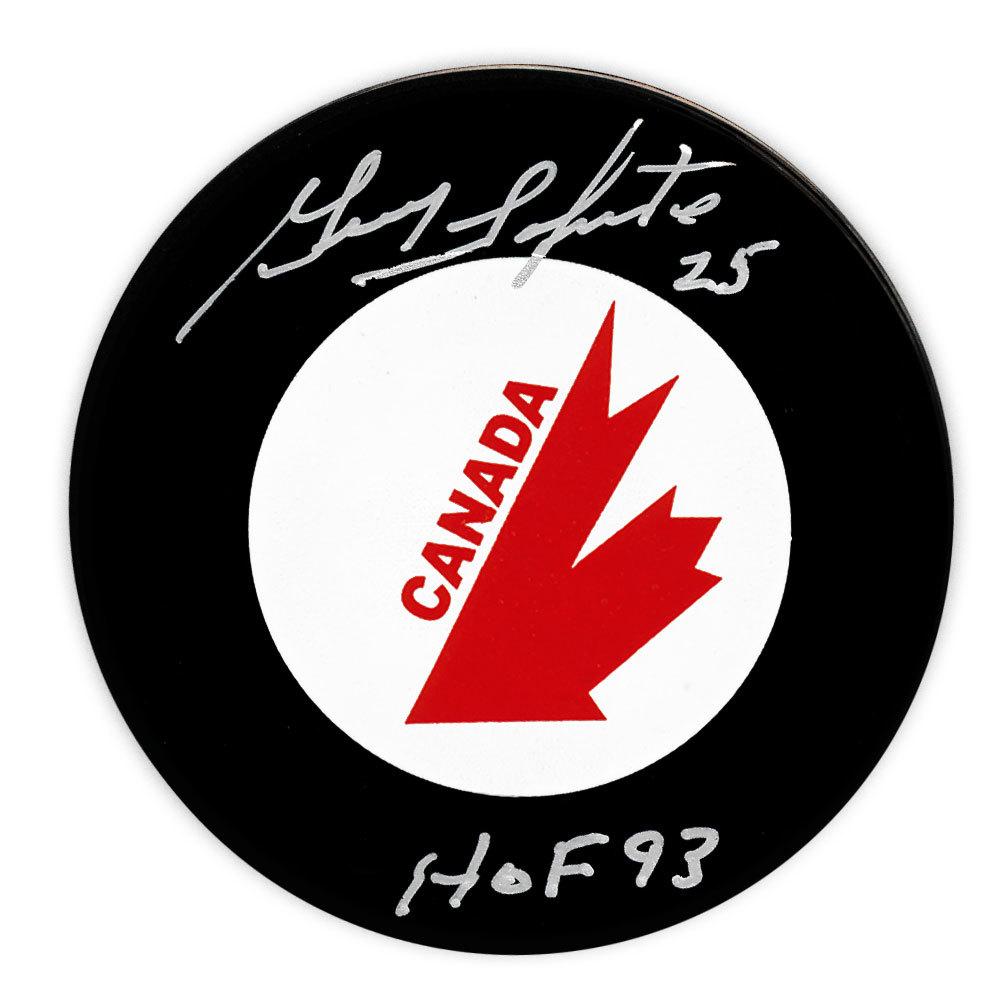 Guy Lapointe Team Canada HOF Autographed Canada Cup Puck