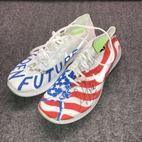 MY CAUSE MY CLEATS - LIONS GOLDEN TATE SIGNED AND WORN CUSTOM SHOES (2017)
