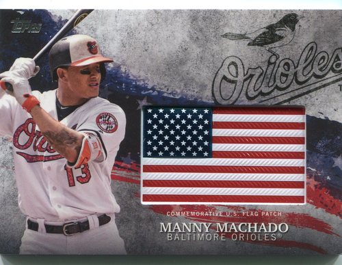 Photo of 2018 Topps Independence Day U.S. Flag Relics #IDMLMM Manny Machado
