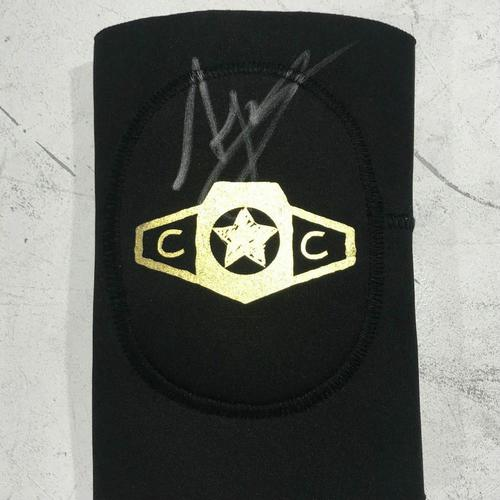 Photo of AJ Styles WORN & SIGNED Elbow Pad (Connor's Cure: Hell in a Cell - 09/16/18)