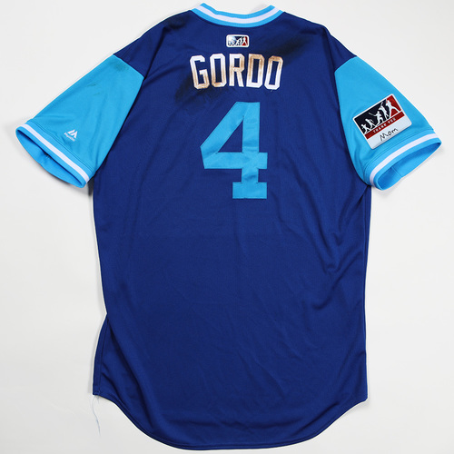"Photo of Alex ""Gordo"" Gordon Kansas City Royals Game-Used Jersey 2018 Players' Weekend Jersey"