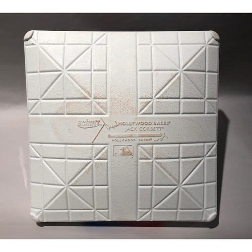Photo of 2018 ALDS Game-Used Base (G2) - New York Yankees at Boston Red Sox - 3rd Base Used In Innings 5-6  - 10/6/2018