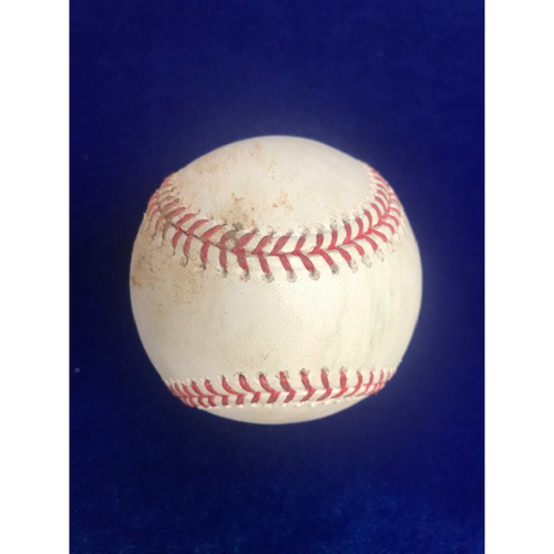 Photo of Game Used Baseball: Albert Pujols Single August 11th 2018