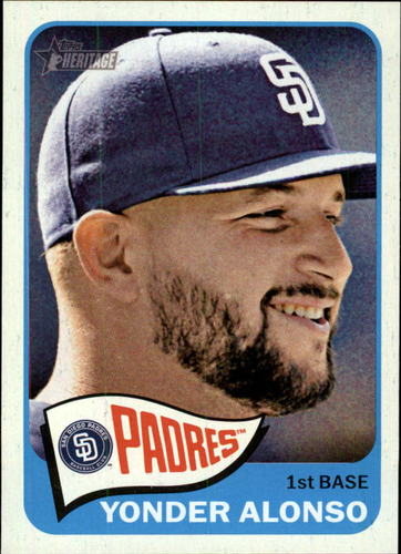 Photo of 2014 Topps Heritage #313 Yonder Alonso