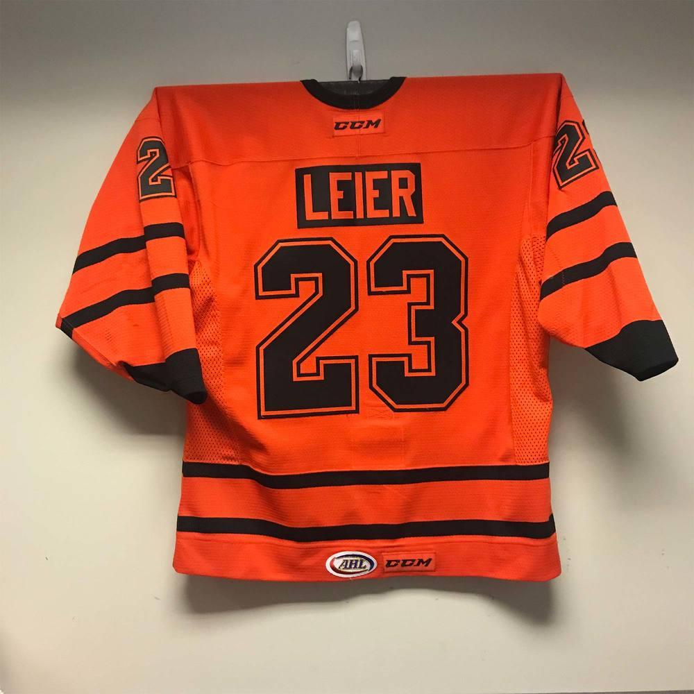 Lehigh Valley Phantoms Color Rush Jersey worn by #23 Taylor Leier