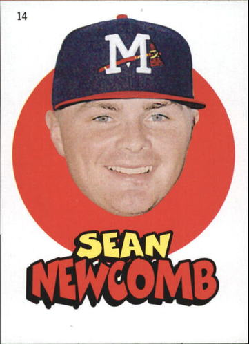 Photo of 2016 Topps Heritage Minors '67 Topps Stickers #14 Sean Newcomb