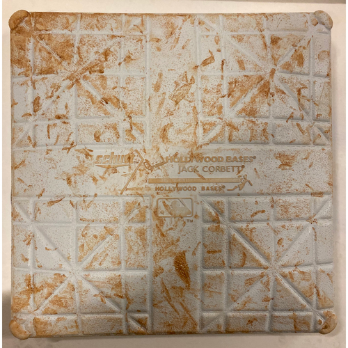 Photo of 2019 NLDS Game Used Base - Second Base Used During 4th, 5th, 6th Inning - 10/9/19 - Cardinals Clinch
